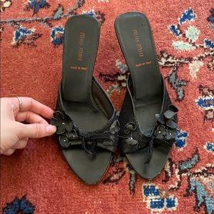 Vintage Miu Miu Kitten Sandals